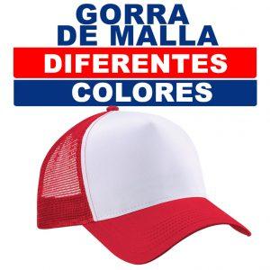 Gorra de malla, diferentes colres